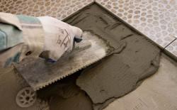 Приготовление раствора для работ с керамической плиткой